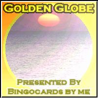 GOLDEN GLOBE AWARD - BINGOCARDS BY ME