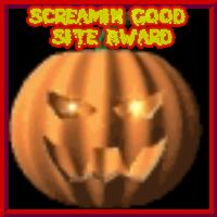 SCREAMING GOOD SITE AWARD